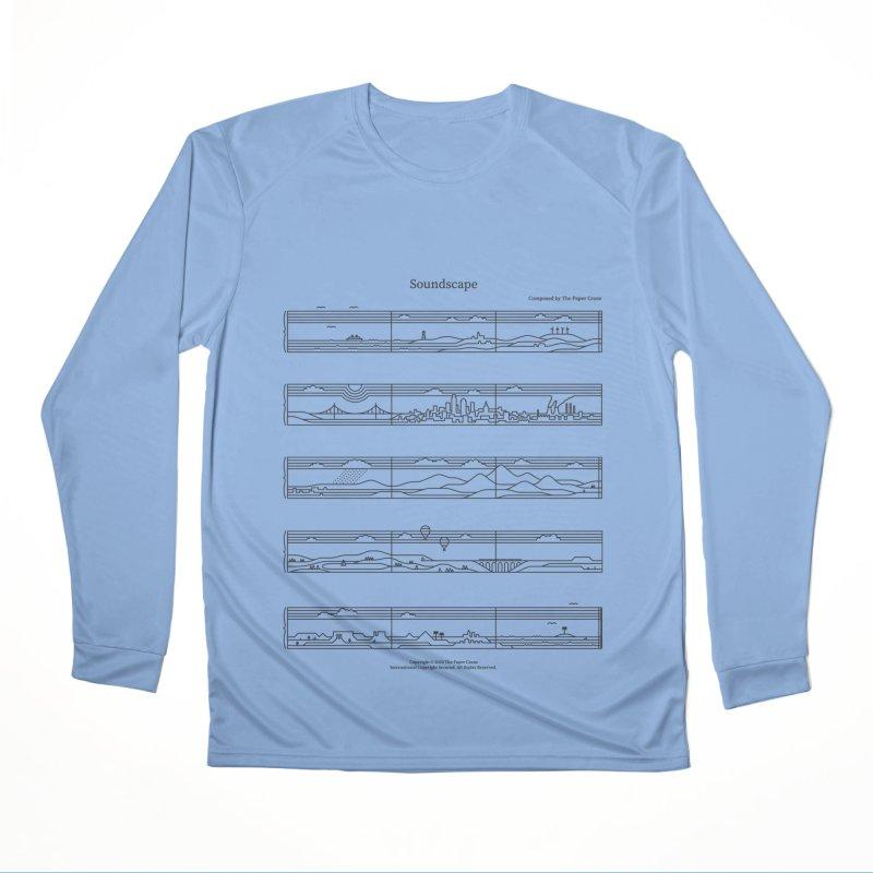Soundscape Men's Performance Longsleeve T-Shirt by thepapercrane's shop