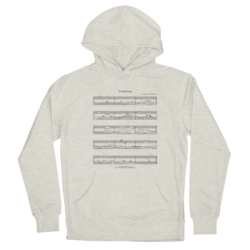 Soundscape Men's French Terry Pullover Hoody by thepapercrane's shop