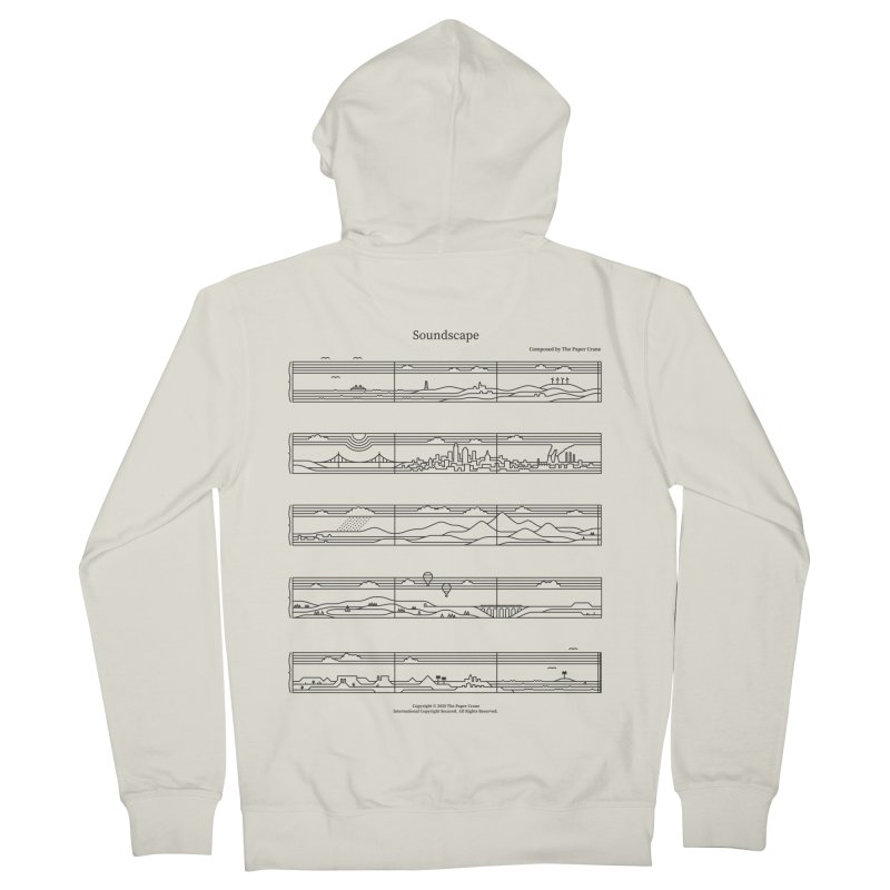 Soundscape Men's French Terry Zip-Up Hoody by thepapercrane's shop