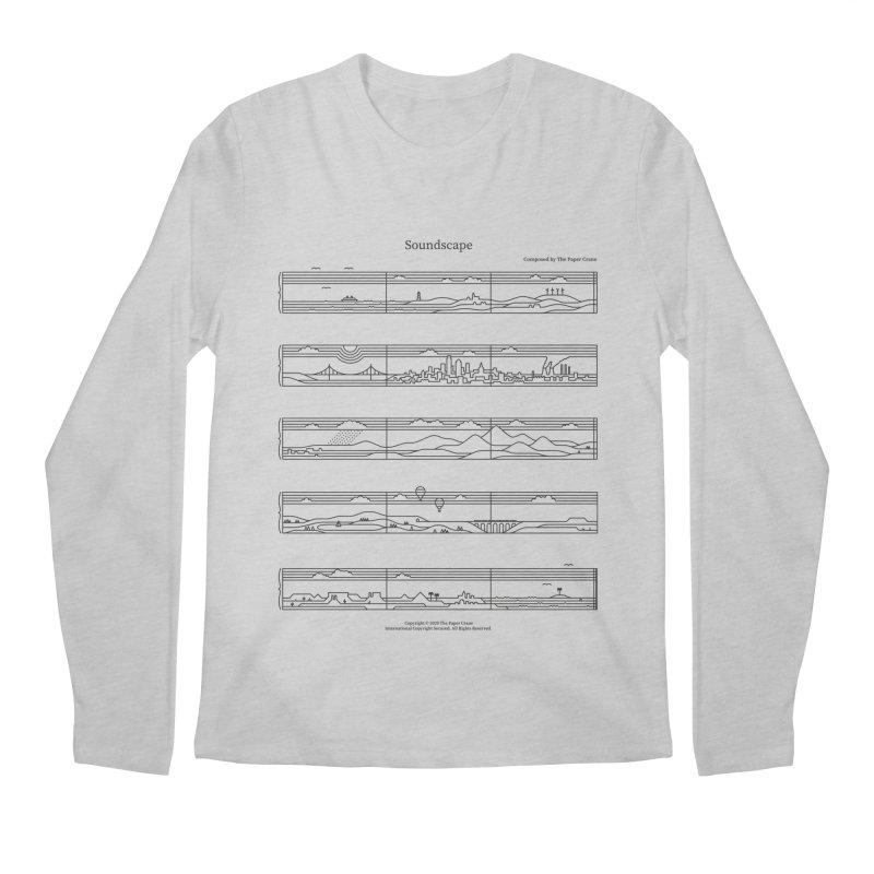 Soundscape Men's Regular Longsleeve T-Shirt by thepapercrane's shop