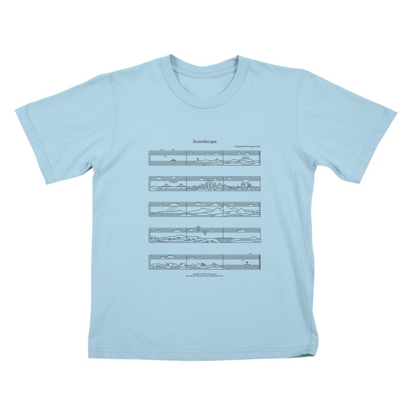 Soundscape Kids T-Shirt by thepapercrane's shop