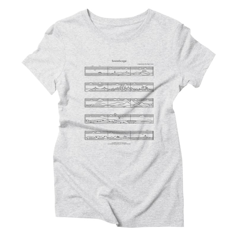 Soundscape Women's Triblend T-Shirt by thepapercrane's shop