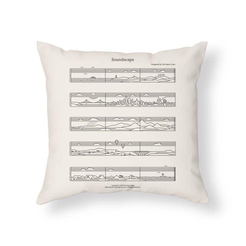 Soundscape Home Throw Pillow by thepapercrane's shop