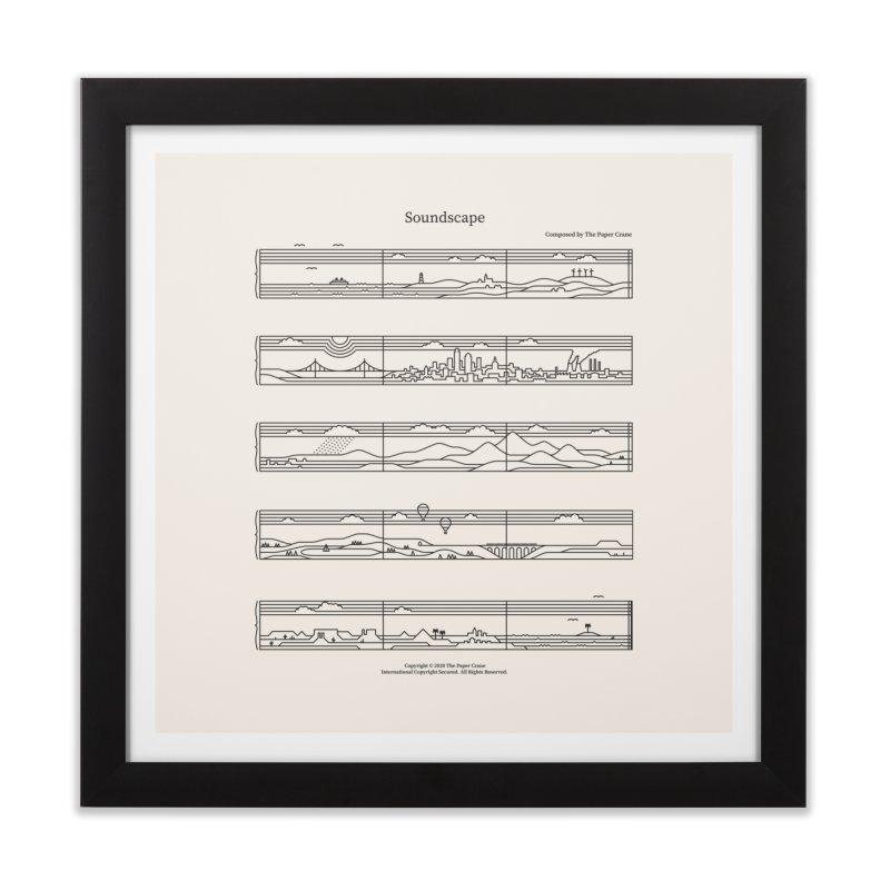 Soundscape Home Framed Fine Art Print by thepapercrane's shop
