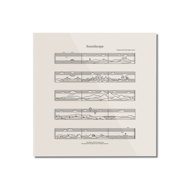 Soundscape Home Mounted Acrylic Print by thepapercrane's shop