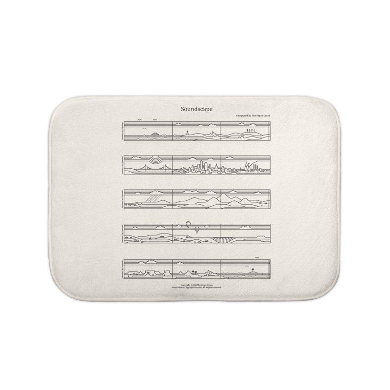 Soundscape Home Bath Mat by thepapercrane's shop