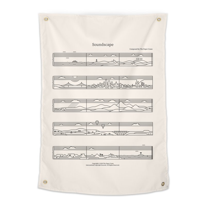 Soundscape Home Tapestry by thepapercrane's shop