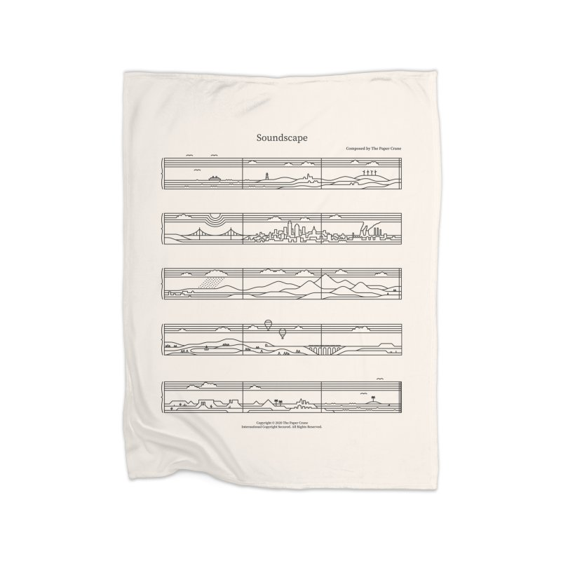 Soundscape Home Fleece Blanket Blanket by thepapercrane's shop