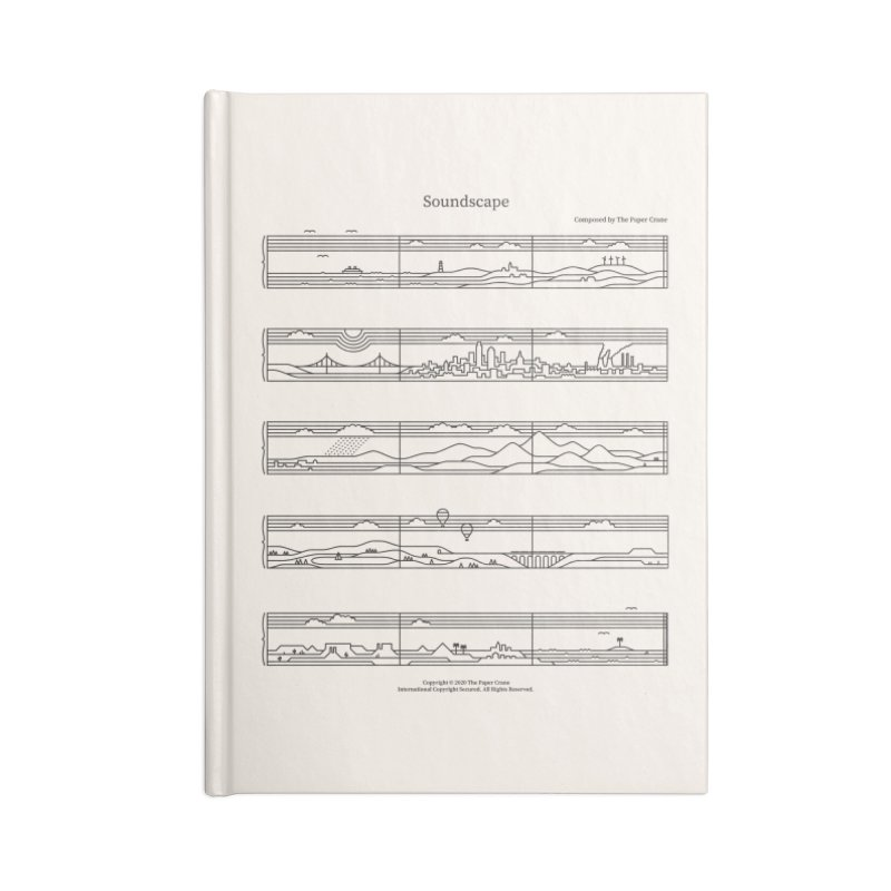 Soundscape Accessories Lined Journal Notebook by thepapercrane's shop