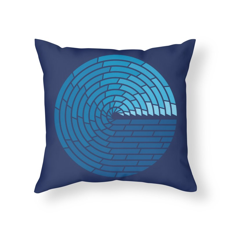 Almighty Ocean Home Throw Pillow by thepapercrane's shop