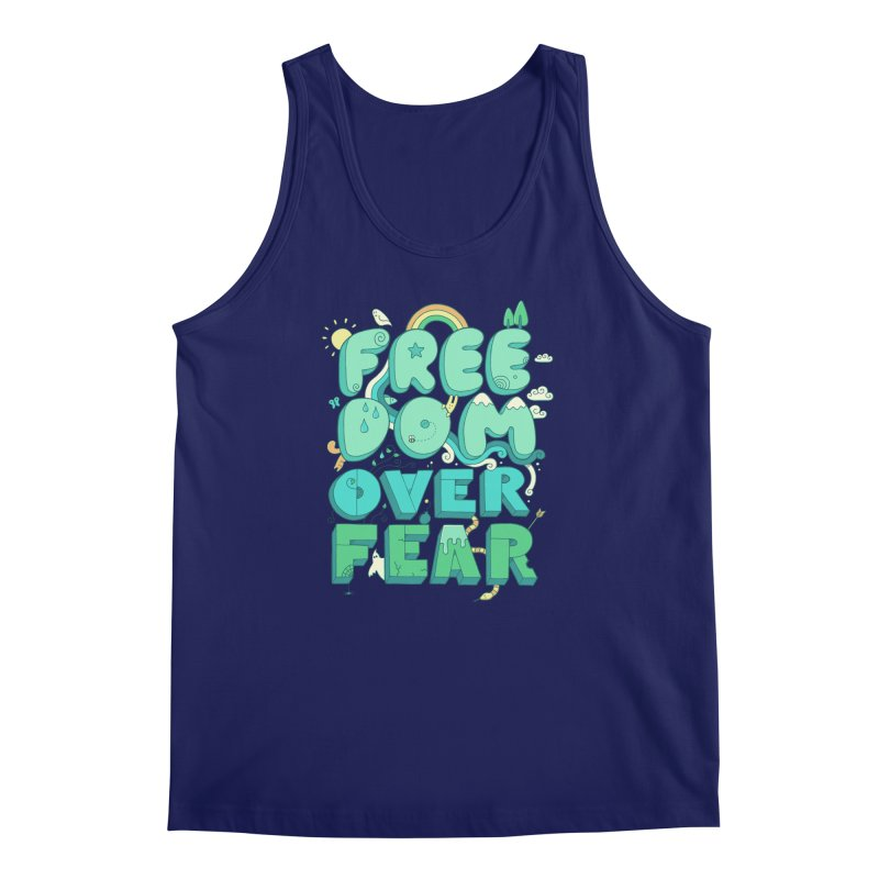 Freedom Over Fear Men's Tank by thepapercrane's shop