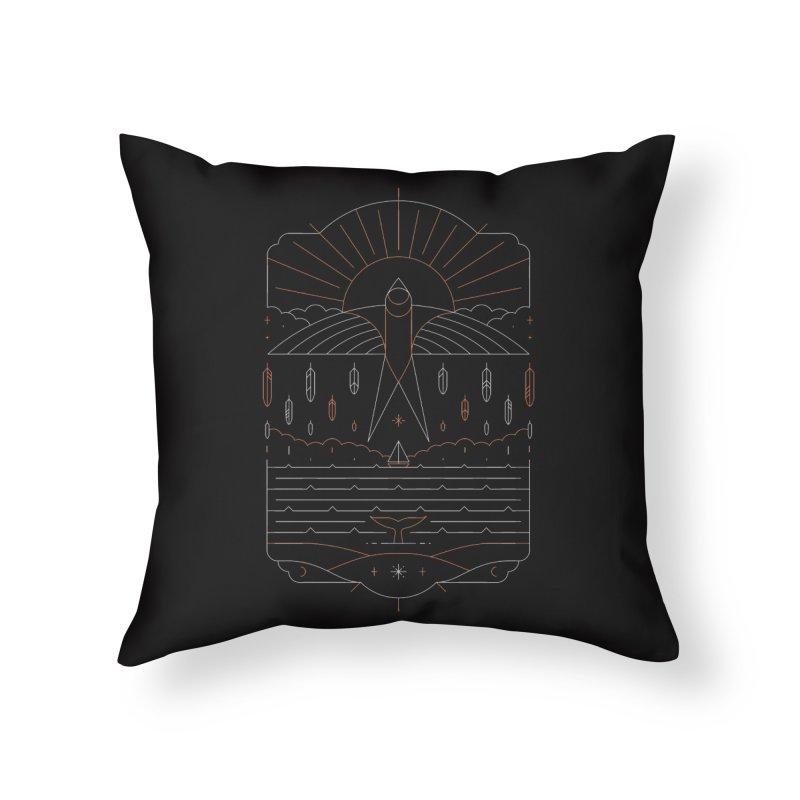 The Navigator Home Throw Pillow by thepapercrane's shop