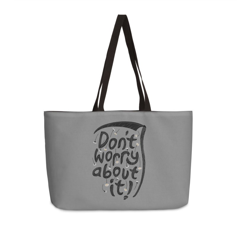 Don't Worry About It Accessories Bag by thepapercrane's shop
