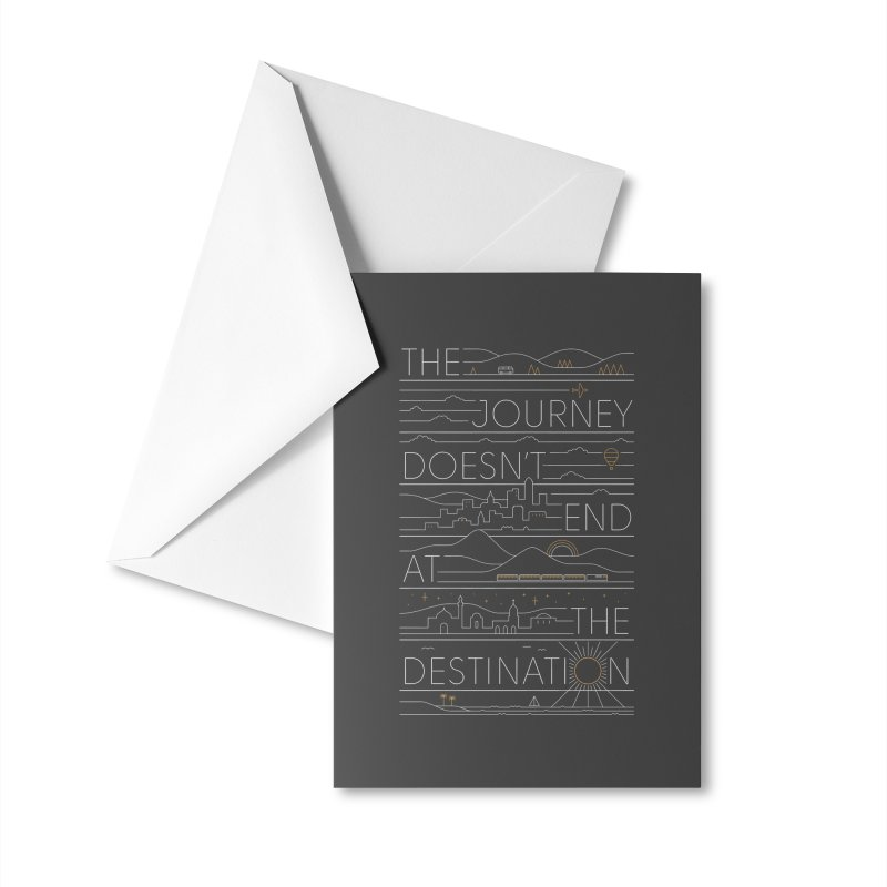 The Journey Accessories Greeting Card by thepapercrane's shop