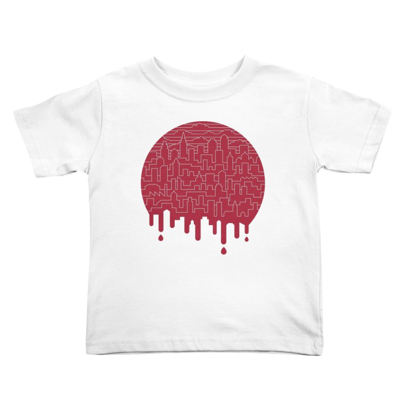 Painted Red Kids Toddler T-Shirt by thepapercrane's shop