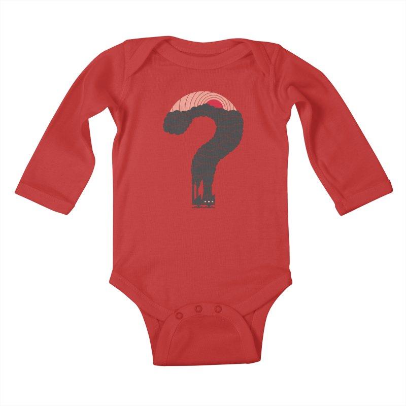 Why? Kids Baby Longsleeve Bodysuit by thepapercrane's shop