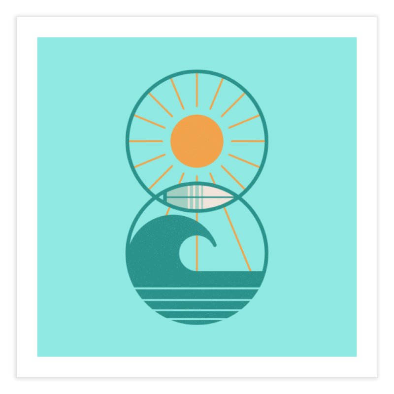 Sun Sea and Surf Home Fine Art Print by thepapercrane's shop