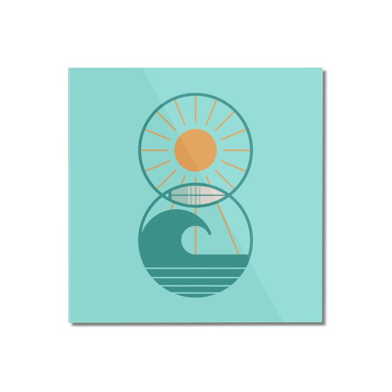 Sun Sea and Surf Home Mounted Acrylic Print by thepapercrane's shop