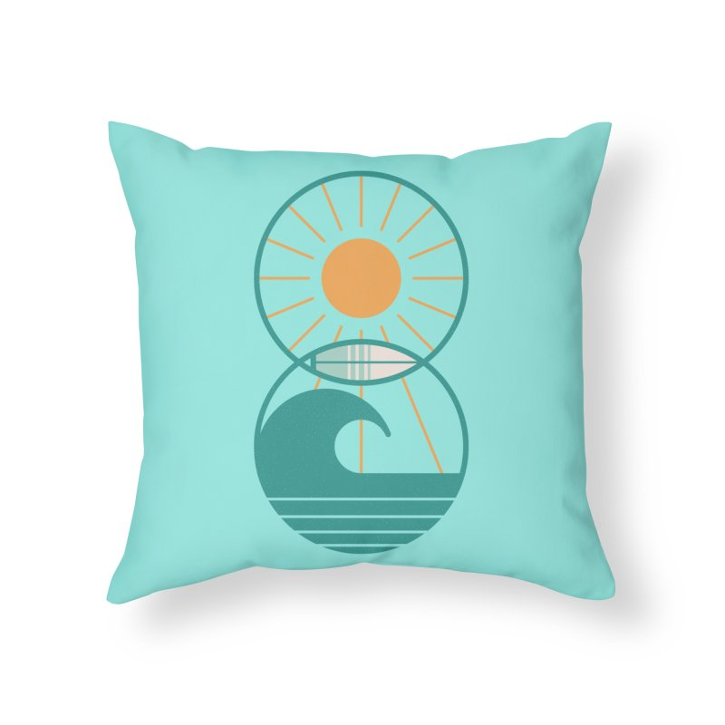 Sun Sea and Surf Home Throw Pillow by thepapercrane's shop