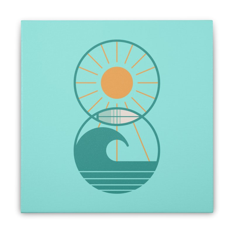 Sun Sea and Surf Home Stretched Canvas by thepapercrane's shop