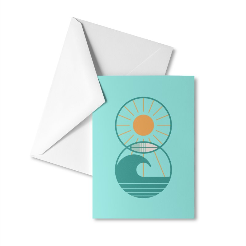 Sun Sea and Surf Accessories Greeting Card by thepapercrane's shop