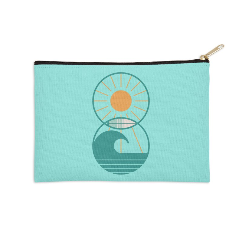 Sun Sea and Surf Accessories Zip Pouch by thepapercrane's shop