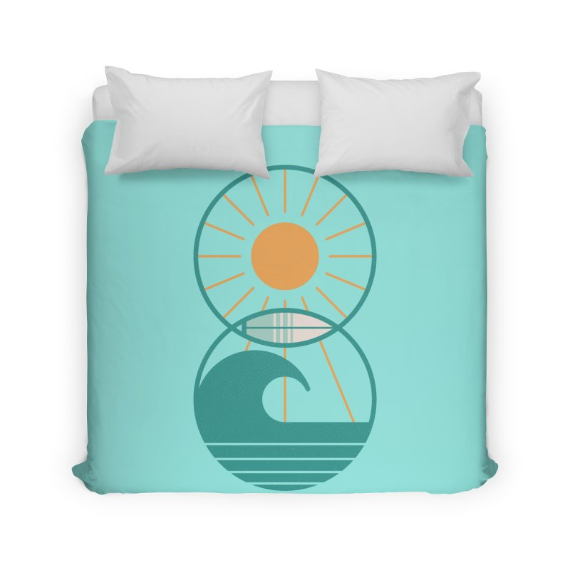 Sun Sea and Surf Home Duvet by thepapercrane's shop