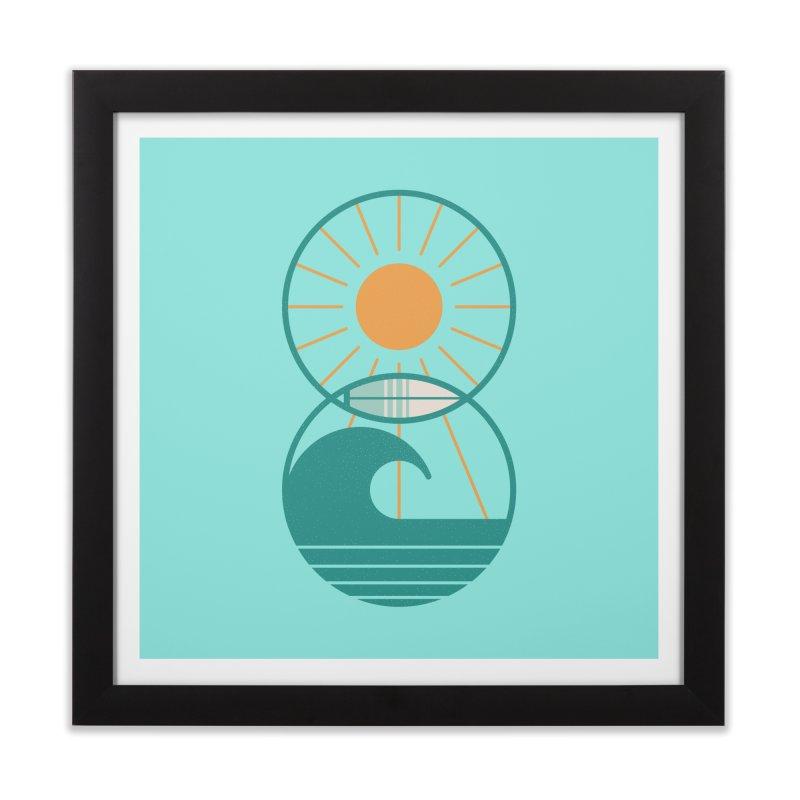 Sun Sea and Surf Home Framed Fine Art Print by thepapercrane's shop