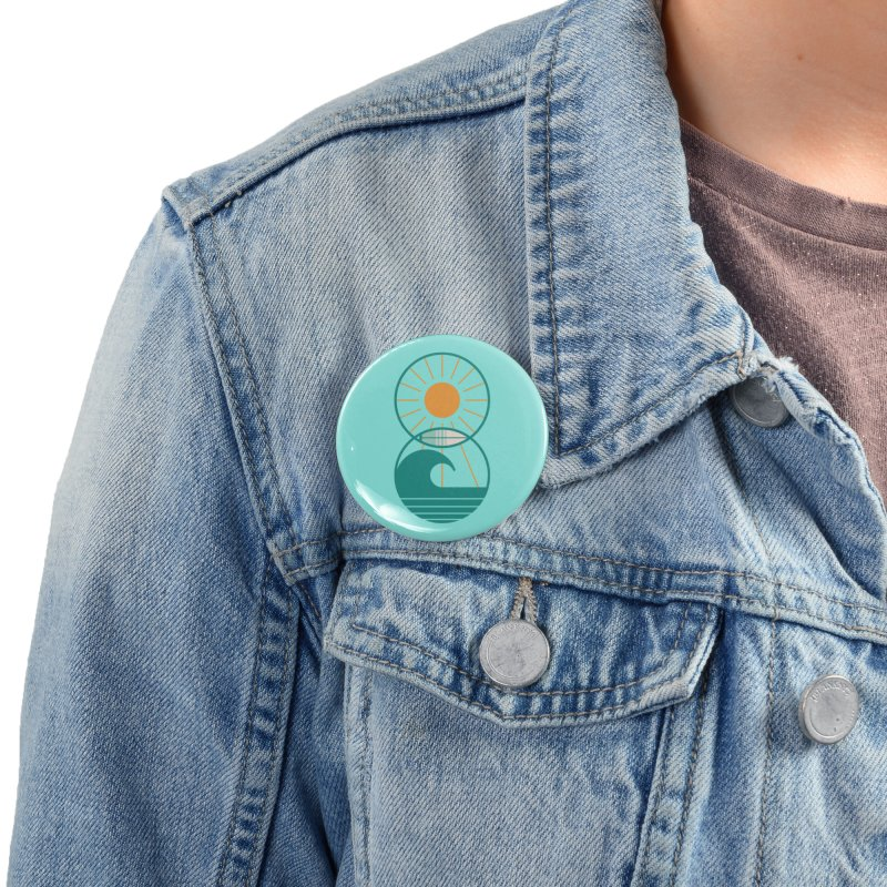 Sun Sea and Surf Accessories Button by thepapercrane's shop