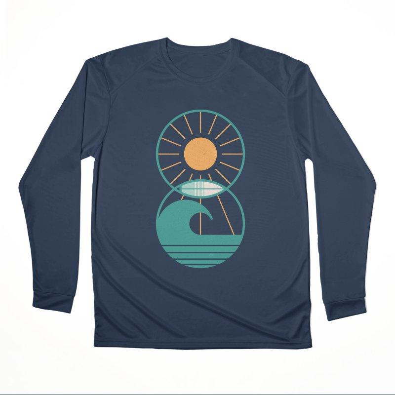 Sun Sea and Surf Men's Longsleeve T-Shirt by thepapercrane's shop