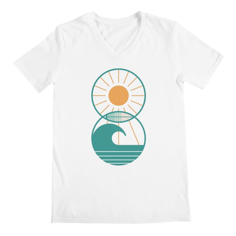 Sun Sea and Surf Men's V-Neck by thepapercrane's shop