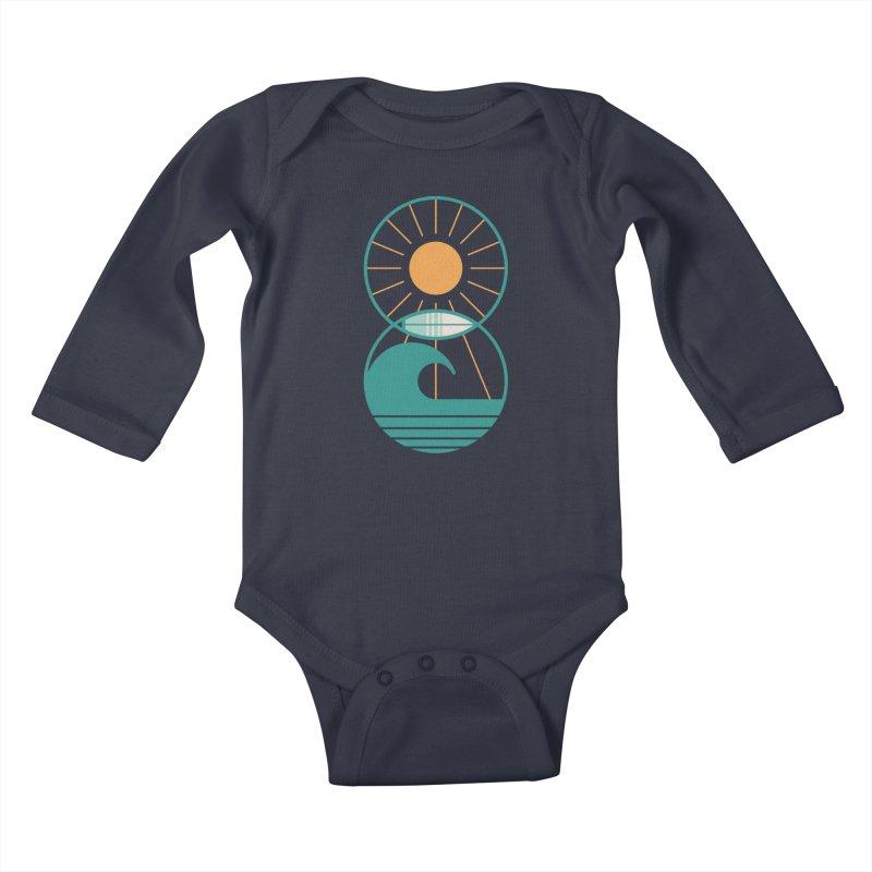 Sun Sea and Surf Kids Baby Longsleeve Bodysuit by thepapercrane's shop