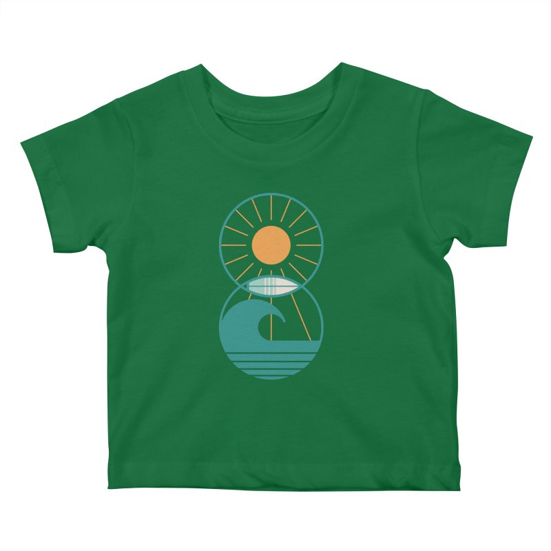 Sun Sea and Surf Kids Baby T-Shirt by thepapercrane's shop