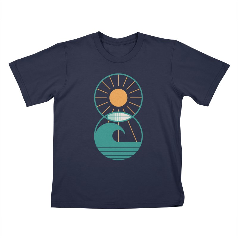 Sun Sea and Surf Kids T-Shirt by thepapercrane's shop