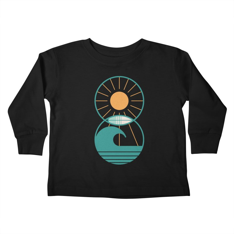 Sun Sea and Surf Kids Toddler Longsleeve T-Shirt by thepapercrane's shop