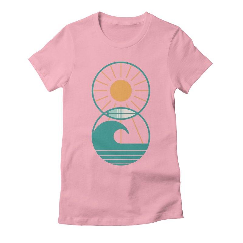 Sun Sea and Surf Women's T-Shirt by thepapercrane's shop