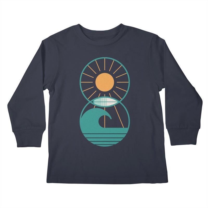 Sun Sea and Surf Kids Longsleeve T-Shirt by thepapercrane's shop