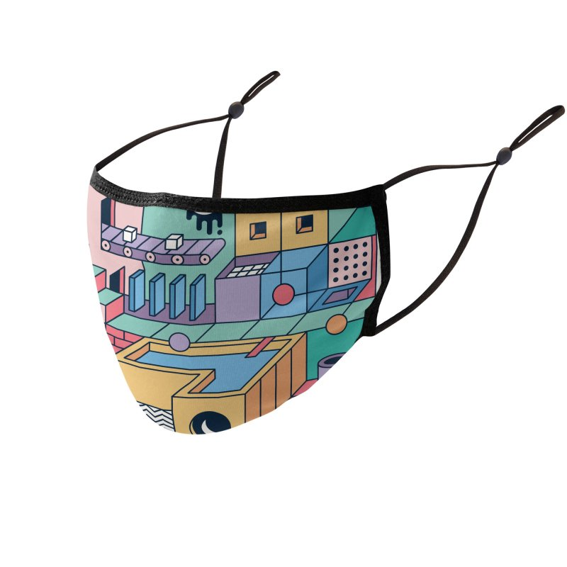 80s Escher Accessories Face Mask by thepapercrane's shop