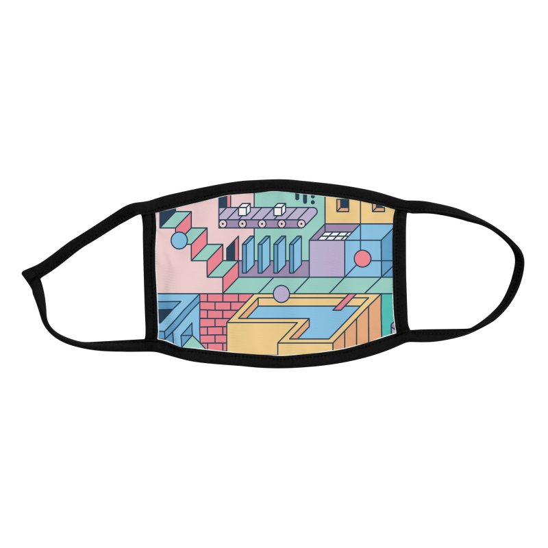 80s Escher Accessories Face Mask by thepapercrane's shop