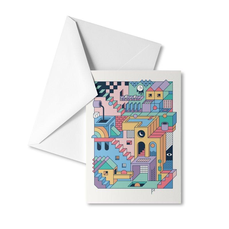 80s Escher Accessories Greeting Card by thepapercrane's shop
