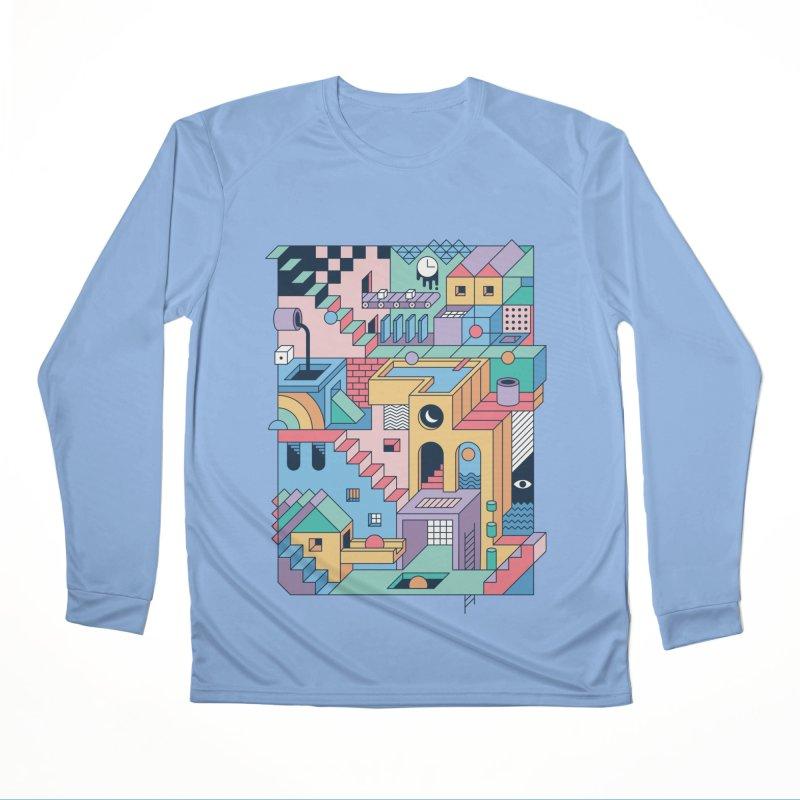 80s Escher Men's Longsleeve T-Shirt by thepapercrane's shop