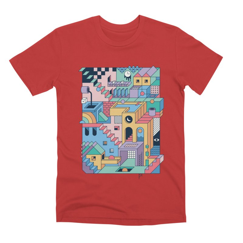 80s Escher Men's T-Shirt by thepapercrane's shop