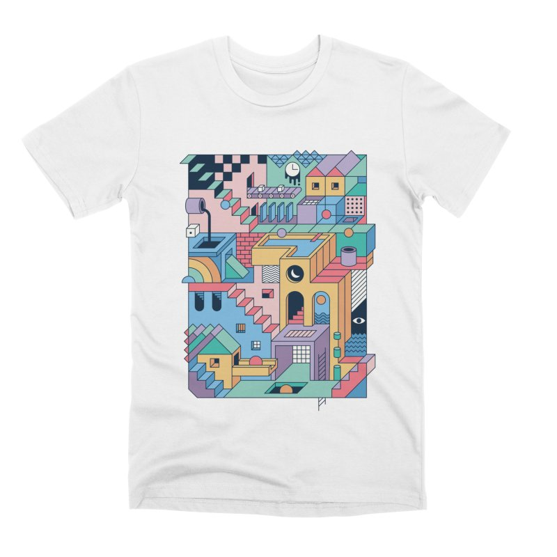 80s Escher Men's T-Shirt by thepapercrane's shop