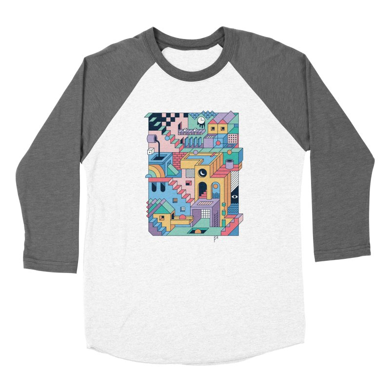 80s Escher Women's Longsleeve T-Shirt by thepapercrane's shop
