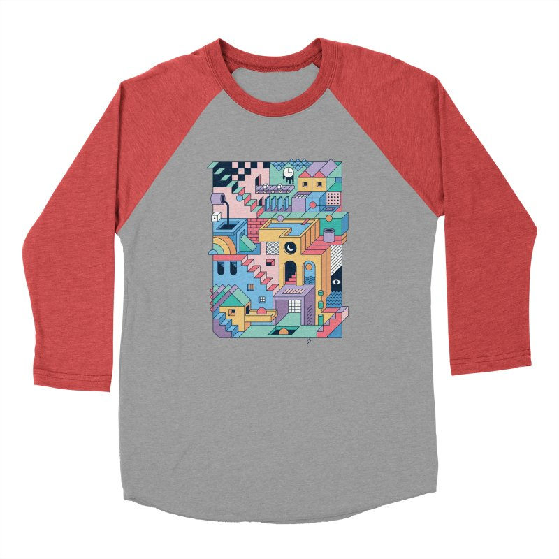80s Escher Men's Longsleeve T-Shirt by thepapercrane's shop