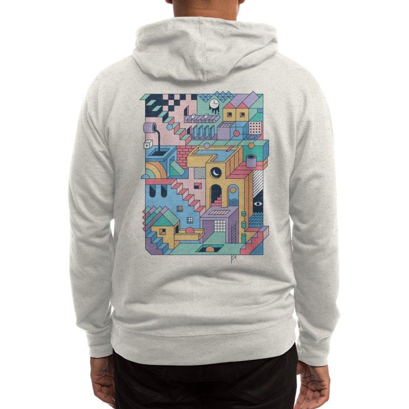 80s Escher Men's Zip-Up Hoody by thepapercrane's shop