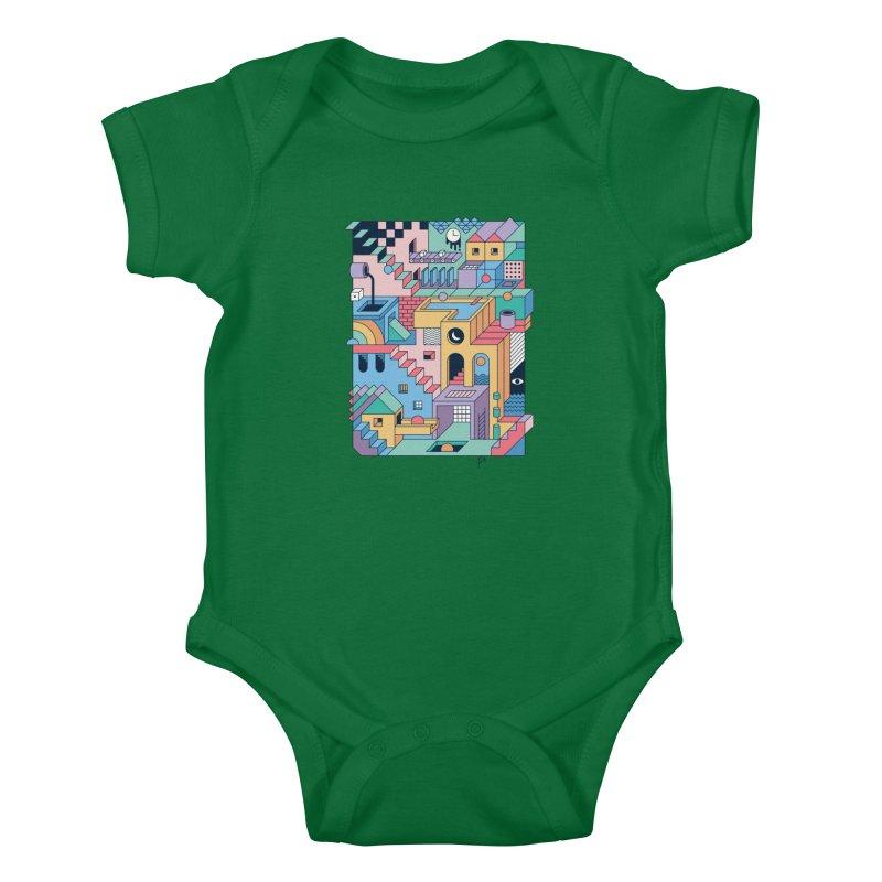80s Escher Kids Baby Bodysuit by thepapercrane's shop