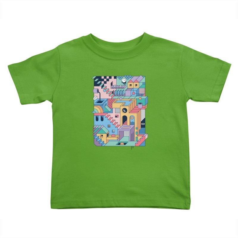 80s Escher Kids Toddler T-Shirt by thepapercrane's shop