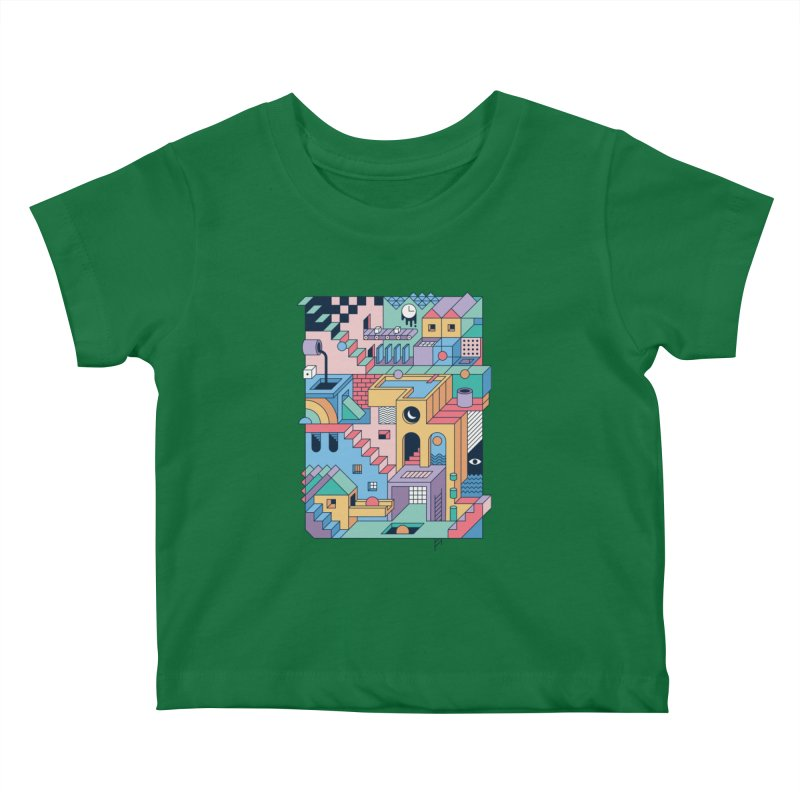 80s Escher Kids Baby T-Shirt by thepapercrane's shop
