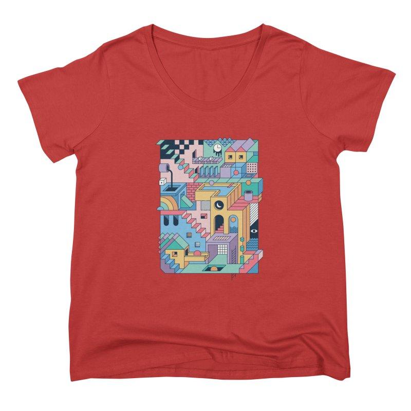 80s Escher Women's Scoop Neck by thepapercrane's shop